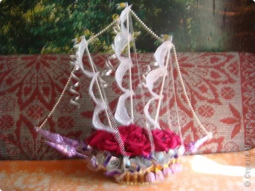 Вот и отправились в плавание мои первые кораблики.Красный кораблик - на свадьбу друзей. фото 8