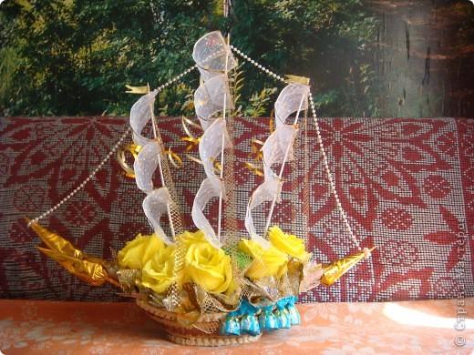 Вот и отправились в плавание мои первые кораблики.Красный кораблик - на свадьбу друзей. фото 9
