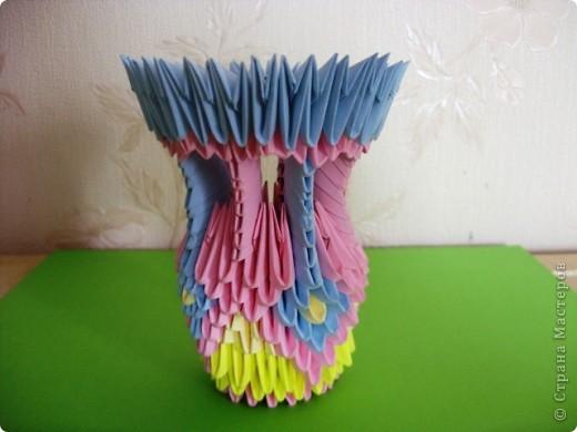 Моя первая работа в технике модульное оригами по мастер-классу Татьяны Просняковой фото 1
