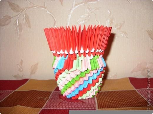 Моя первая работа в технике модульное оригами по мастер-классу Татьяны Просняковой фото 2