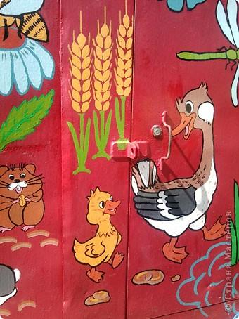 Родственники из Курбатово давно хотели разрисовать ворота гаража. Мы с сыном решили им в этом помочь - вот, что у нас получилось. фото 3