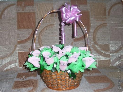 Корзина с цветами на 1 сентября фото 1