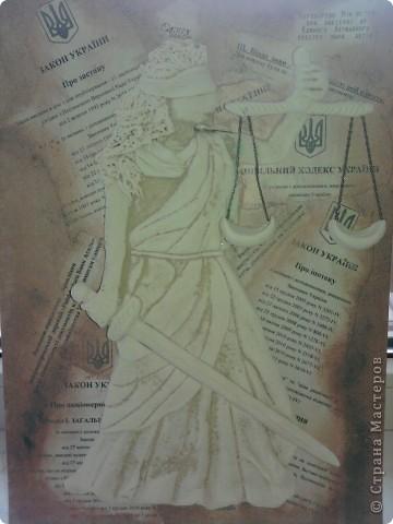 """8 октября - День юриста, к своему профессиональному празднику решилась сделать """"Фемиду"""". К такому подвигу """"подвигли"""" коллеги - потребовали в новый кабинет чего-нибудь """"юридического"""". фото 2"""