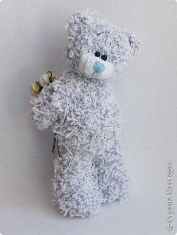 Вязание спицами Мишка