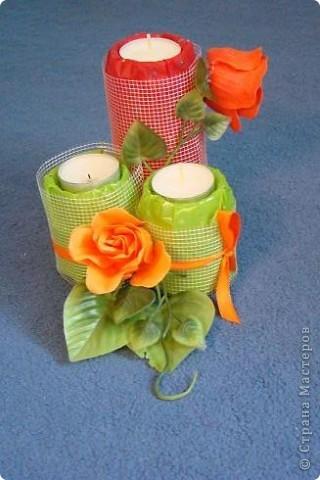"Композиция со свечами ""Весна в пустыне"".  фото 2"