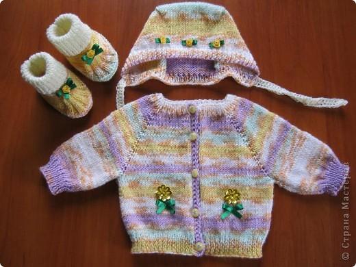 Добрый вечер, любители вязания!! У меня появился повод вязать такие маленькие наряды, чему я рада несказанно! фото 5