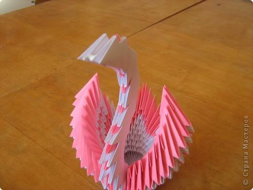 Лебедь из бумаги фото 23