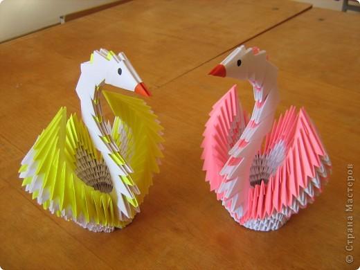 Схема сборки лебедя