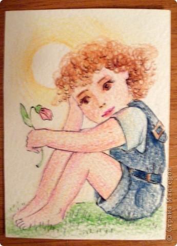 Сто лет не рисовала цветными карандашами, всё разными красками. Первой выбирает Noale(как мой последний кредитор). фото 3