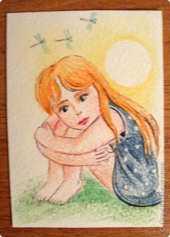 Сто лет не рисовала цветными карандашами, всё разными красками. Первой выбирает Noale(как мой последний кредитор). фото 2