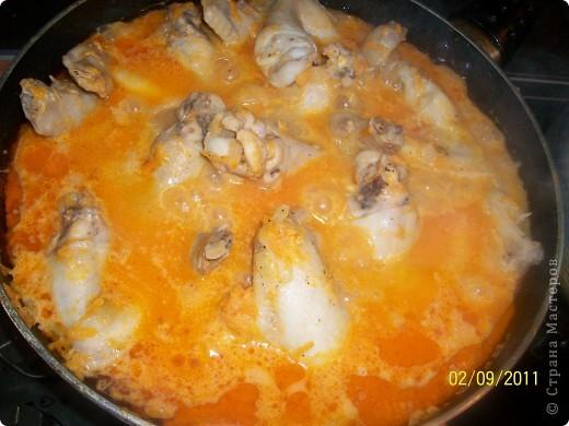 Сегодня решила приготовить очень вкусные крылышки в подливе по этому рецепту: http://gotovim-doma.ru/view.php?r=302-recept-Krylyshki-v-podlive Готовлю их уже не впервый раз и всегда вкусно получаются. Только вместо 500 грамм крыылышек я беру 800 грамм,а остальное все по рецепту. Приятного аппетита!!! фото 2
