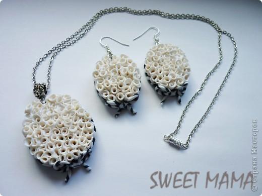 Маки, ожерелье и кольцо. фото 24