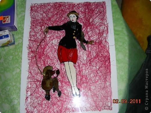 """С пылу с жару. Вторая работа из серии """"Дама с собачкой"""", еще без рамки фото 1"""
