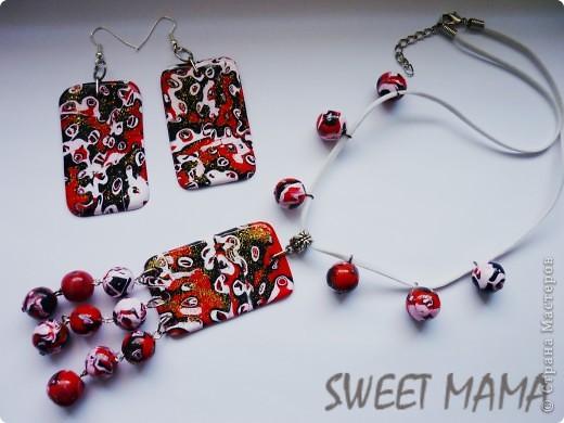 Маки, ожерелье и кольцо. фото 18