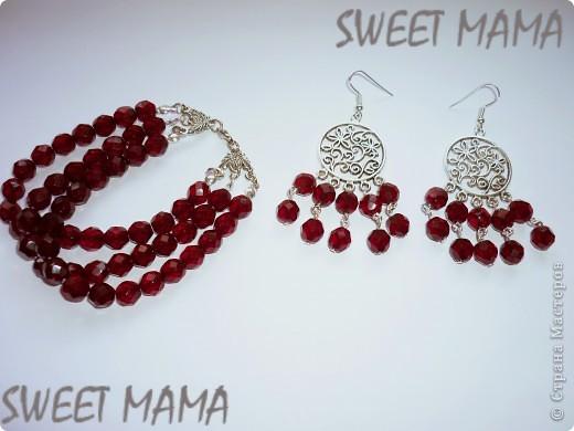 Маки, ожерелье и кольцо. фото 3