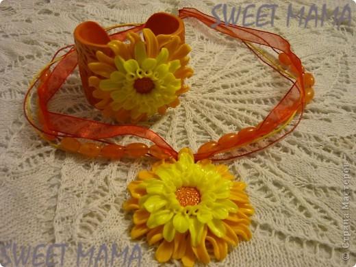 Маки, ожерелье и кольцо. фото 20