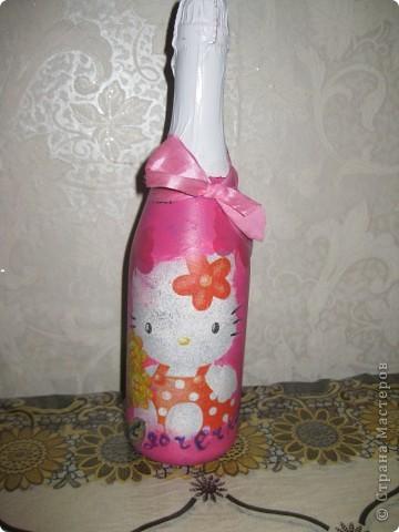 бутылочка для золовки на рождение первой дочери! фото 1