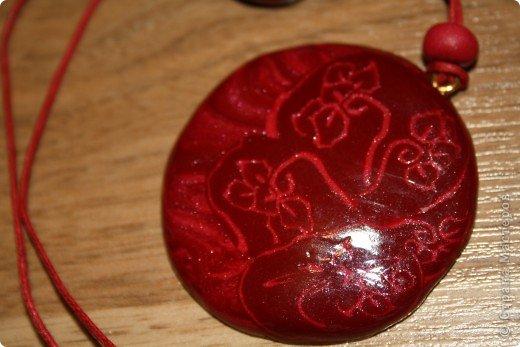 Набор, малиновая радость состоит из браслета и кулона.  фото 3