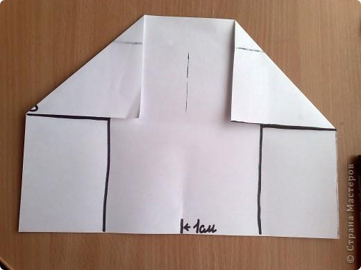 берем лист а4 скаладываем к центру две половины по ширине, фото 4