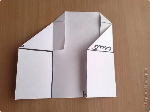 берем лист а4 скаладываем к центру две половины по ширине, фото 5