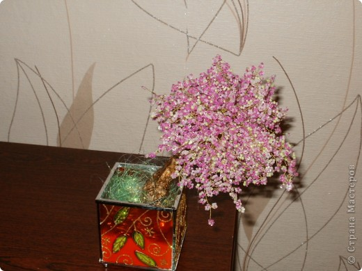 деревце из бисера сакура Бисероплетение.