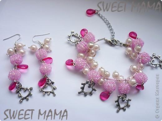 Маки, ожерелье и кольцо. фото 11