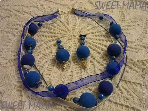 Маки, ожерелье и кольцо. фото 15