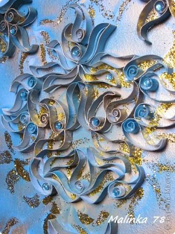 ЧАСТЬ 1  Всем доброго времени суток. Представляю вам ещё одно моё произведение сделанное из рулонов туалетной бумаги. Узоры сделаны в форме пейсли. Техника похожа чем-то на квиллинг, но не знаю можно ли вот это отнести к квиллингу. фото 15