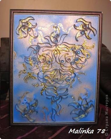 ЧАСТЬ 1  Всем доброго времени суток. Представляю вам ещё одно моё произведение сделанное из рулонов туалетной бумаги. Узоры сделаны в форме пейсли. Техника похожа чем-то на квиллинг, но не знаю можно ли вот это отнести к квиллингу. фото 14