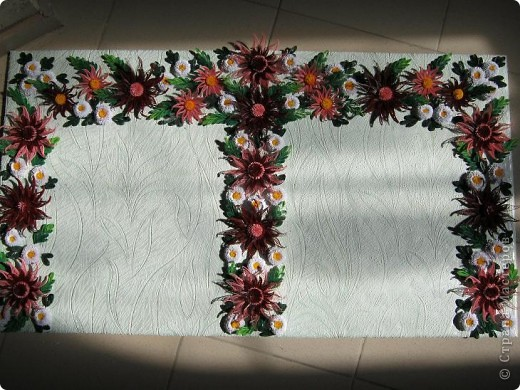 Вот и наступила осень и тот веночек из полевых цветов, который я делала раньше  http://stranamasterov.ru/node/215294  как бы стал не актуален, вот я и сделала  осенний вариант, хочу назвать эти цветы хризантемами. фото 2