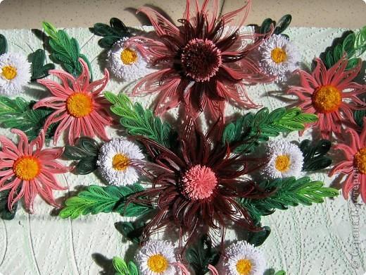 Вот и наступила осень и тот веночек из полевых цветов, который я делала раньше  http://stranamasterov.ru/node/215294  как бы стал не актуален, вот я и сделала  осенний вариант, хочу назвать эти цветы хризантемами. фото 3
