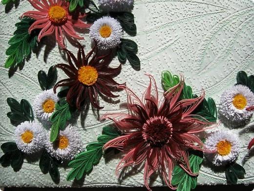 Вот и наступила осень и тот веночек из полевых цветов, который я делала раньше  http://stranamasterov.ru/node/215294  как бы стал не актуален, вот я и сделала  осенний вариант, хочу назвать эти цветы хризантемами. фото 5