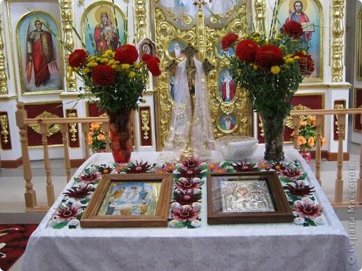 Вот и наступила осень и тот веночек из полевых цветов, который я делала раньше  http://stranamasterov.ru/node/215294  как бы стал не актуален, вот я и сделала  осенний вариант, хочу назвать эти цветы хризантемами. фото 8