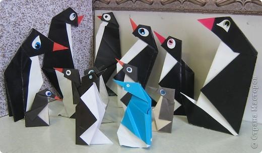Я участвовала в интернет-конкурсе по оригами и сделала пингвинов. Посмотрите, какие они у меня получились! фото 2