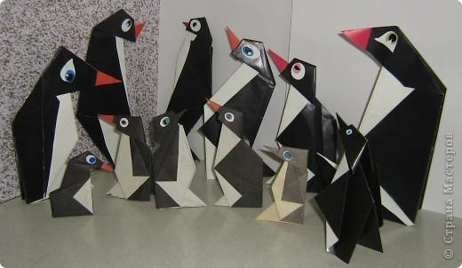 Я участвовала в интернет-конкурсе по оригами и сделала пингвинов. Посмотрите, какие они у меня получились! фото 3