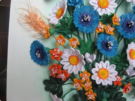 Здравствуйте жители СМ.  И я насобирала букет из луговых цветов. Работа простая, но делала я ее с большим удовольствием. фото 4