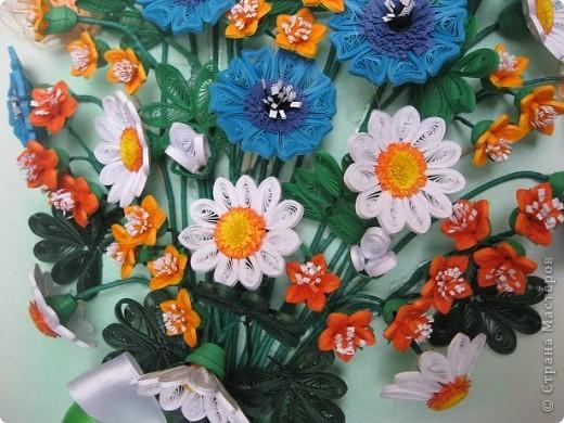 Здравствуйте жители СМ.  И я насобирала букет из луговых цветов. Работа простая, но делала я ее с большим удовольствием. фото 3