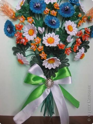 Здравствуйте жители СМ.  И я насобирала букет из луговых цветов. Работа простая, но делала я ее с большим удовольствием. фото 6