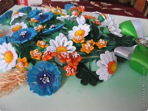 Здравствуйте жители СМ.  И я насобирала букет из луговых цветов. Работа простая, но делала я ее с большим удовольствием. фото 8