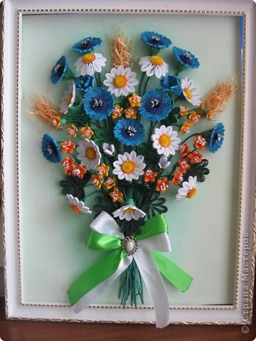 Здравствуйте жители СМ.  И я насобирала букет из луговых цветов. Работа простая, но делала я ее с большим удовольствием. фото 10