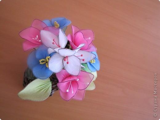 Цветы из капрона. фото 2