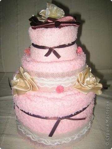 Тортик из полотенец фото 1