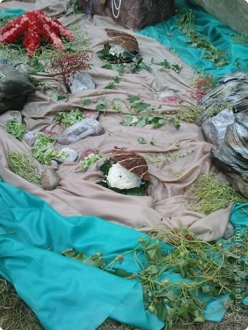 У нас вчера прошел день рождения города Рыбинска!  Хочу показать всем представленные на празднике креативные цветочные экспозиции флористических салонов нашего города, а так же выставку фигурной резки из овощей и фруктов.  Все фото сделаны на телефон, поэтому всю красоту передать не могу. фото 12