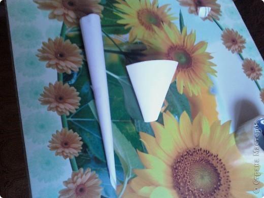 Во первых самое главное-это инструменты, в моём случае-это кулёчки из бумаги один узкий и длинный,а второй толстенький фото 2