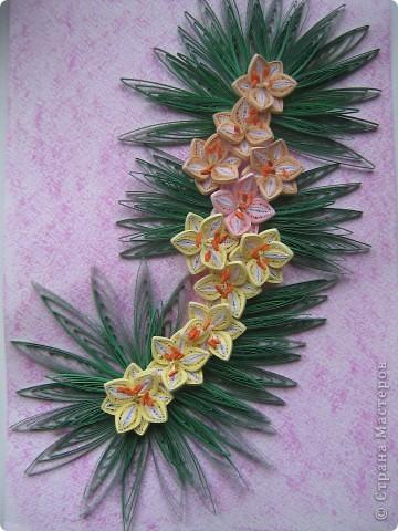 Вот такая работа родилась у меня, вдохновившись лилиями мастериц, спасибо вам)))