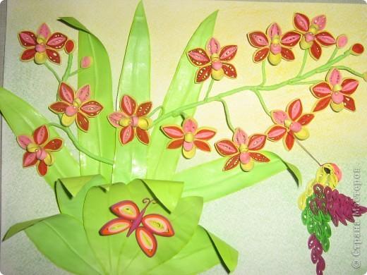 """Огромное спасибо Ольге Ольшак за работу """"Орхидеи"""", она мне очень сильно понравилась и я попоробовала повторить этот шедевр, к сожелению я не умею вставлять ссылку, может быть мне кто нибудь расскажет как это делаетсяю СПАСИБО всем, кто заглянул))))"""
