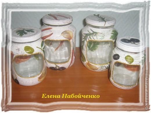 Стеклянные баночки на кухню своими руками