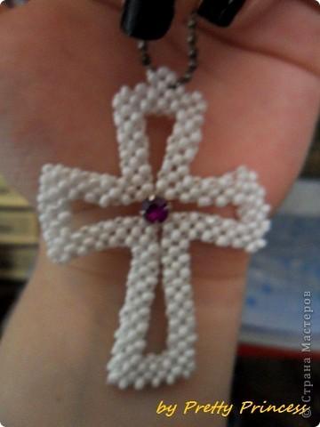 крест Бисер Бусины фото 1