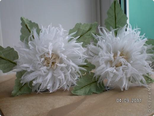 Доброго времени суток, мои дорогие. Очень захотелось показать Вам работы моей дорогой и любимой мамочки. Эти цветы все сделаны из ткани.  Ветка розы фото 9