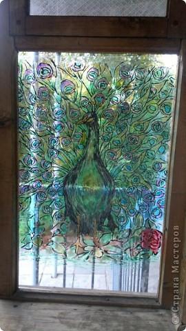 Вторая моя работа витражными красками, а стекле в коридоре. Не знаю как он перенесет морозы. фото 3